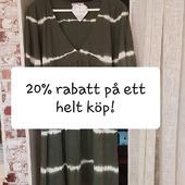 VECKANS ERBJUDANDE (Vecka 17) 😍 20% RABATT på ett helt köp (OBS! gäller ej på reavaror och underkläder) Våra öppettider är: Mån-ons 14-18 Tors-fre 10-14 Lör 1 maj stängt! Varmt välkomna 🤗 Kram \ Astrid & Kristina 🌷🌷 #gävle #skutskär #älvkarleby #älvkarlebykommun #tierp #uppland #gävleborg #uppsala #fransa_fashion #soyaconceptsweden #soyaconcept #vila_official #chicalondon #caramellefashion #riekersweden #rieker #shoppalokalt #norrauppland #upplevnorduppland #gävlecity #gemini_smycken_
