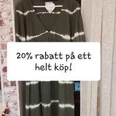 Sista chans idag och imorgon! 20% RABATT PÅ ETT HELT KÖP (gäller ej på reavaror och underkläder) 🤩 Våra öppettider är: Mån-ons 14-18 Tors-fre 10-14 Lör 1 maj stängt! Varmt välkomna 🤗 Kram \ Astrid & Kristina 🌷🌷 #gävle #skutskär #älvkarleby #älvkarlebykommun #tierp #uppland #gävleborg #uppsala #fransa_fashion #soyaconceptsweden #soyaconcept #vila_official #chicalondon #caramellefashion #riekersweden #rieker #shoppalokalt #norrauppland #upplevnorduppland #gävlecity #gemini_smycken_