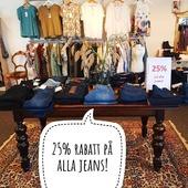 VECKANS ERBJUDANDE 😍 25% RABATT PÅ ALLA JEANS! (GÄLLER VECKA 18) Våra öppettider är: Mån-ons 14-18 Tors-fre 10-14 Lör 10-13 Varmt välkomna 🤗 Kram \ Astrid & Kristina 🌷🌷 #gävle #skutskär #älvkarleby #älvkarlebykommun #tierp #uppland #gävleborg #uppsala #fransa_fashion #soyaconceptsweden #soyaconcept #vila_official #chicalondon #caramellefashion #riekersweden #rieker #shoppalokalt #norrauppland #upplevnorduppland #gävlecity #gemini_smycken_